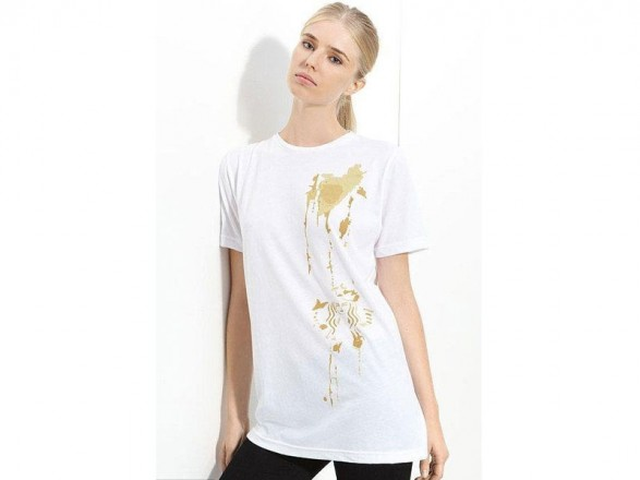 Coffee stained T-shirt by Alexander Wang
