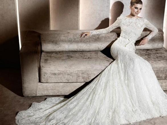 Elie Saab for Pronovias wedding dresses 2012 Delicate classic cut suits to