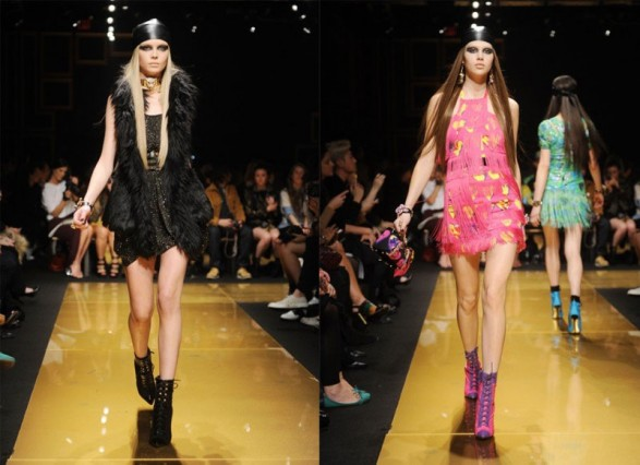 The Versace fashion show for H & M in New York