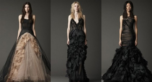 Vera Wang Black wedding dresses collection 2012